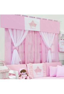 Cortina Dupla Padroeira Baby Princesinha Rosa