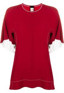Marni Blusa Com Contraste - Vermelho