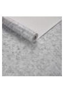 Papel De Parede Importado Geometrico Textura Prata