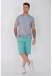 Bermuda Sarja Equivoco Masculina - Masculino-Verde