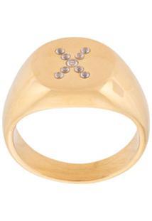 Nialaya Jewelry Anel De Sinete - Dourado