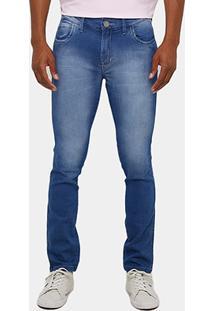 Calça Jeans Skinny Preston Stone Risca Masculina - Masculino