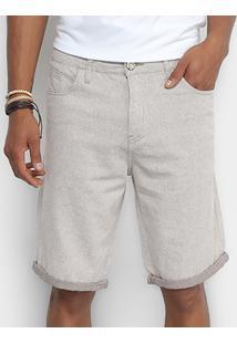 Bermuda Cavalera Com Textura Masculina - Masculino-Jeans