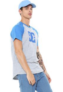 Camiseta Raglan Dc Shoes Star Cinza/Azul