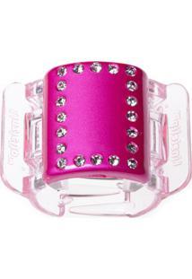 Prendedor De Cabelo Linziclip Pearlised Diamante Hot Pink