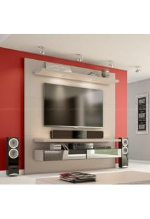 Painel Para Tv Até 50 Polegadas Tb107 Com Led E Espelho 100% Mdf 180 X 180 X 40 Fendi - Dalla Costa