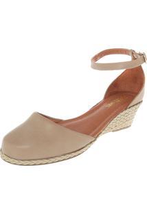 Scarpin Dafiti Shoes Anabela Bege