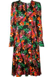 Dvf Diane Von Furstenberg Floral Print Dress - Preto