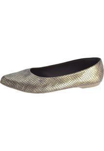 Sapatilha Promocional Scarpan Calçados Finos Cobra Ouro