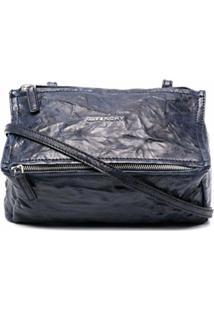 Givenchy Crinkled Effect Crossbody Bag - Azul