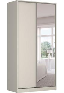 Guarda-Roupa Solteiro Com Espelho Tunas Vii 2 Pt 3 Gv Branco