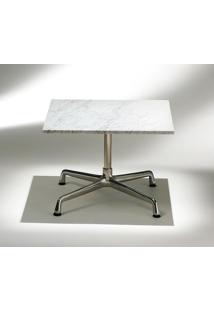 Mesa Charles Eames Lateral - Quadrada Tampo Mármore Carrara Gioia Tampos