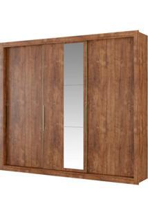 Guarda-Roupa Astor Com Espelho - 3 Portas - Native