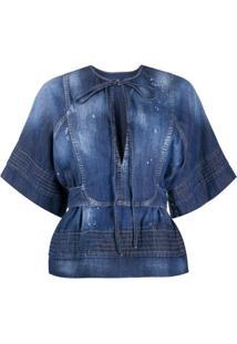 Dsquared2 Blusa Com Lavagem - Azul
