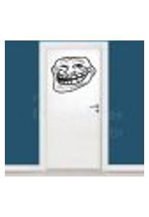 Adesivo De Parede Decorativo Troll Face - Memes - P 30X36Cm