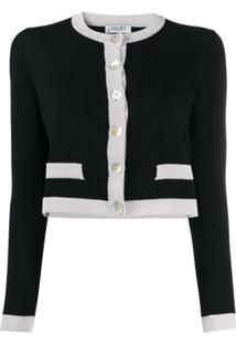 Liu Jo Cardigan Color Block - Preto