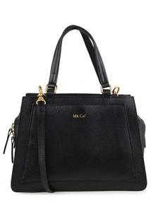 Bolsa Shoulder Bag Couro Estruturada Preto - Preto/Un