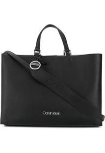 Calvin Klein Bolsa Tote Com Logo - Preto