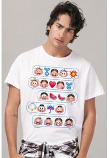 Camiseta Bandup! Turma Da Mônica Emoji - Masculino-Branco