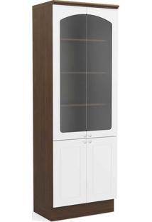 Armário De Cozinha 4 Portas 8Mm G612 Jacarandá/Branco - Kappesberg