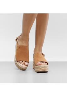 Sandália Dakota Flatform Feminina - Feminino-Caramelo