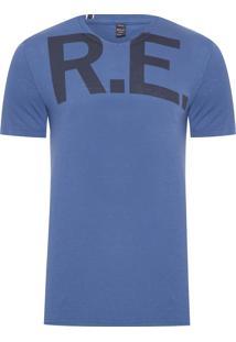 Camiseta Masculina Circular - Azul
