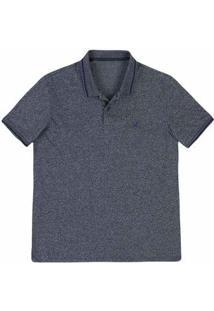 Camisa Polo Regular Masculina Em Malha De Algodão