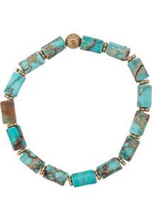 Nialaya Jewelry Pulseira Elástica De Pedras - Azul