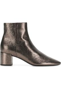 Saint Laurent Metallic Ankle Boots - Metálico