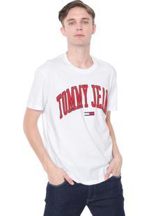 Camiseta Tommy Jeans Collegiate Logo Branca