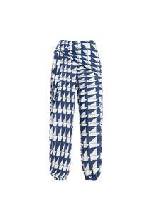 Calça Feminina De Amarração Jordi - Azul