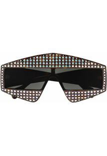Gucci Eyewear Óculos De Sol Com Aplicações - Preto