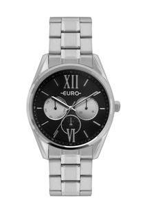 Relógio Euro Multi Glow Feminino Prata Eu6P79Ac/3P Eu6P79Ac/3P