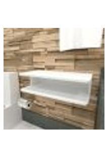 Aparador Para Banheiro 60X30X16,5 Cm Mdf Branco Tx Modelo En15601B