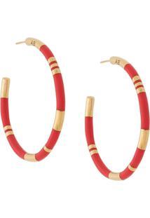 Aurelie Bidermann Hoop Earrings - Vermelho
