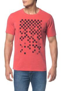 Camiseta Ckj C Estampa Quadriculado - Vermelho - Pp