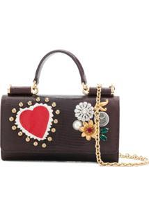 Dolce & Gabbana Carteira Mini 'Von' Transversal - Marrom