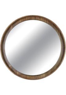 Espelho Martis Moldura Revestido Em Lamina Nogueira 80 Cm (Larg) - 43562 - Sun House