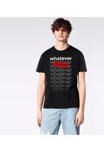 Camiseta Diesel Whatever Masculina - Masculino-Preto