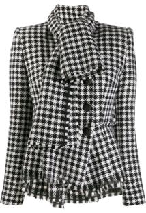 Dolce & Gabbana Dogtooth Fitted Jacket - Preto