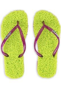Sandália Slim Tradicional Cleanup - Verde Limão