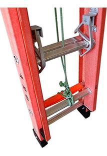 Escada Extensível 4,20M Fibra Perfil Vazado Degrau Aluminio