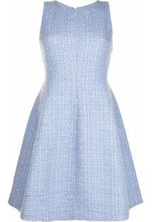 Emporio Armani Vestido Sem Mangas De Tweed - Azul