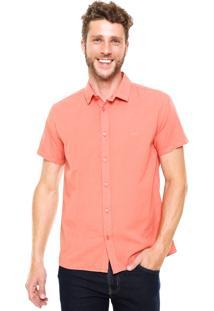 Camisa Colcci Pespontos Coral
