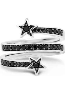 Anel Life Estrelas Triplo Espinélios