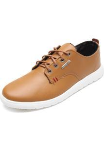 Sapatênis Couro Coca Cola Shoes Sween Caramelo