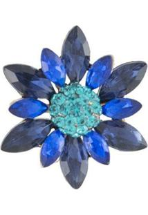 Broche Armazem Rr Bijoux Flor Azul - Kanui