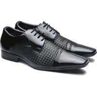 01841942fb Sapato Social Versales Confort Masculino - Masculino-Preto+Cinza