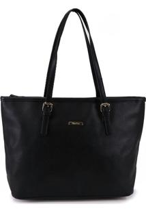 Bolsa Shopping Bag Anna Luz Preto