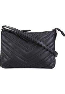 Bolsa Pagani Mini Bag Transversal Matelassê Feminina - Feminino-Preto